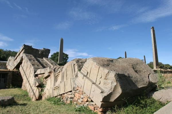 The fallen Great Stele, symbol of the downfall of Axum | Axum | Ethiopia