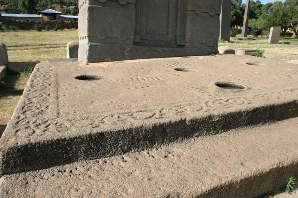 Base of the Stele of Ezana: finely decorated | Axum | Ethiopia
