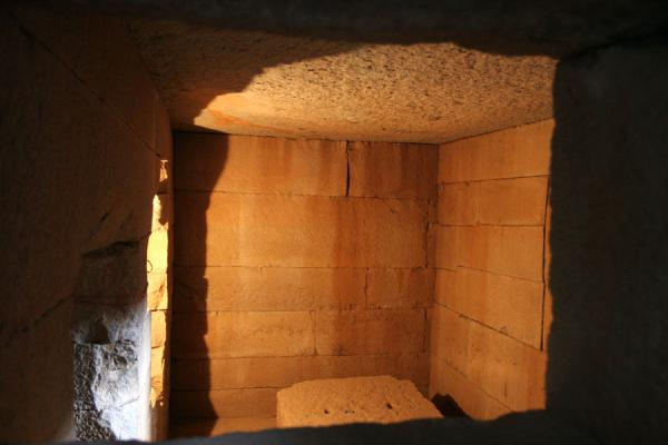 Picture of One of the chambers of the mausoleum of the stelae field of Axum
