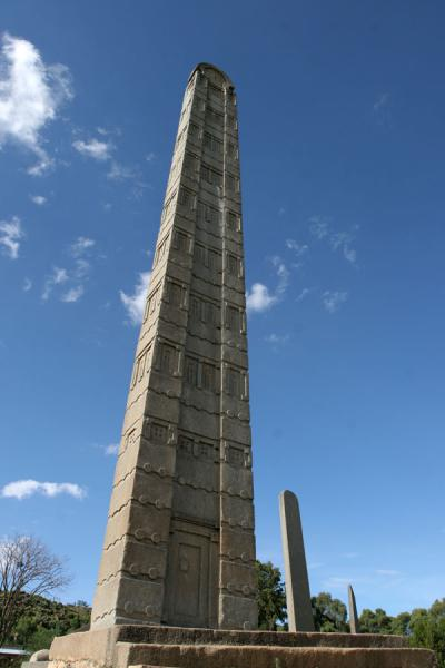 King Ezana stele poiting towards the sky | Axum | Ethiopia