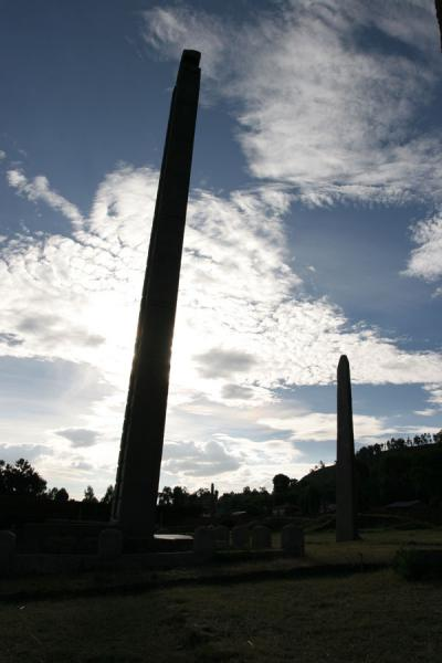 Stelae in Axum sticking out of the earth as needles | Axum | Ethiopia