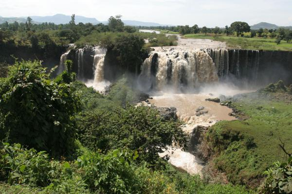 Picture of Tis Issat or Blue Nile falls from a distance
