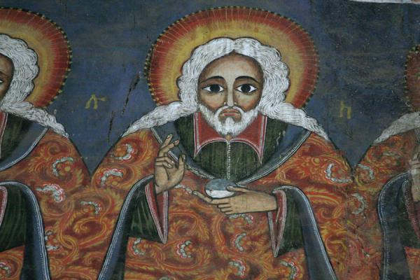 Picture of Close-up of fresco above the passage to the Holiest of Holies - Ethiopia - Africa