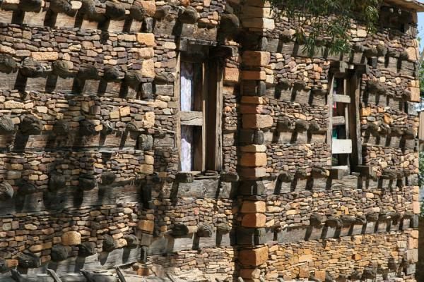 Picture of Debre Damo Monastery (Ethiopia): Axumite architecture in church at Debre Damo monastery