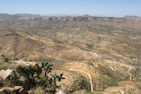 View from Debre Damo, looking deep down into the landscape | Debre Damo Monastery | Ethiopia