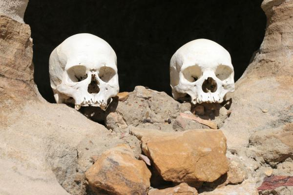 Picture of Skulls in cave at Debre Damo monastery