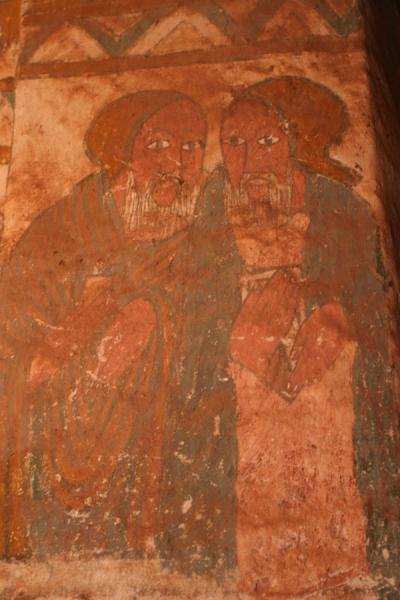Picture of Debre Tsion church (Ethiopia): Old Testament figures in a fresco on the wall of Debre Tsion church