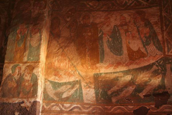 Detail of a fresco inside Debre Tsion church | Debre Tsion church | Ethiopia