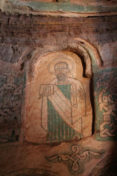 Picture of Religious figure on the walls of Debre Tsion church