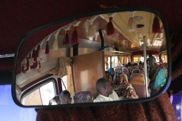 Bus viewed using the mirror | Ethiopian buses | Ethiopia