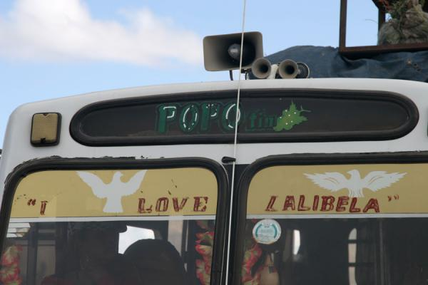 Traditionally, bus windows are where the driver expresses his thoughts and feelings | Ethiopian buses | Ethiopia