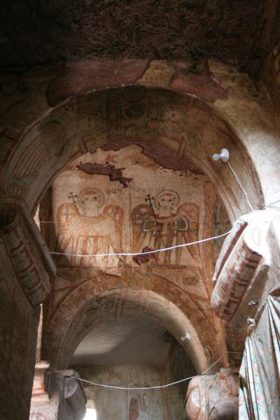 Arches and decorated ceiling of Genata Maryam church | Genata Maryam Medhane Alem | Ethiopia