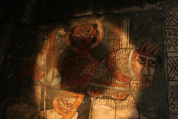 Detail of fresco of Mekina Medhane Alem church | Genata Maryam Medhane Alem | Ethiopia