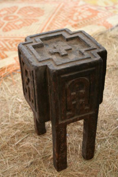 Picture of Genata Maryam Medhane Alem (Ethiopia): Wooden toolbox of Mekina Medhane Alem church