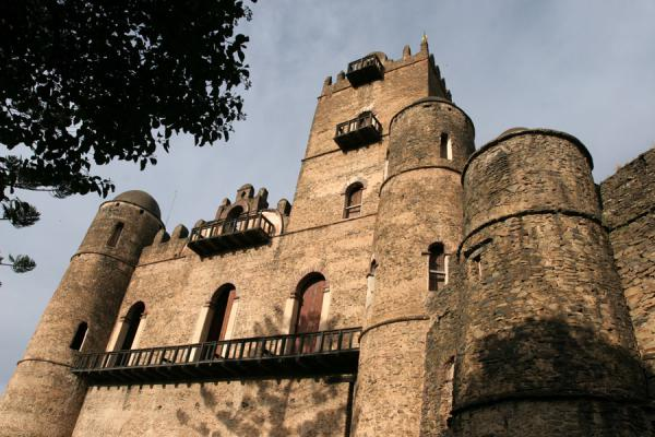 Picture of Fasil Castle seen from below - Ethiopia - Africa