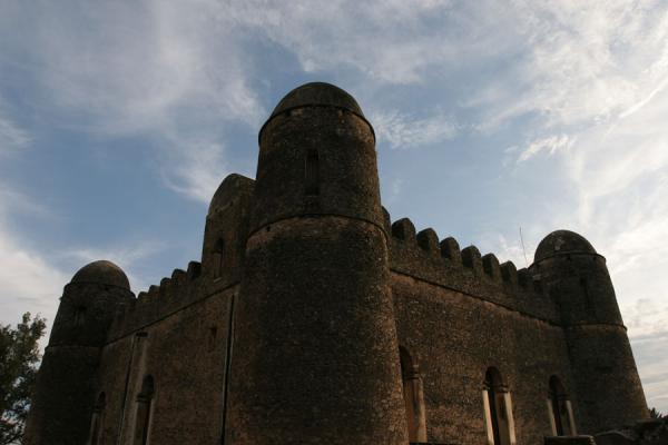 Picture of Fasil Ghebbi (Ethiopia): Contours of Fasil Castle just before sunset