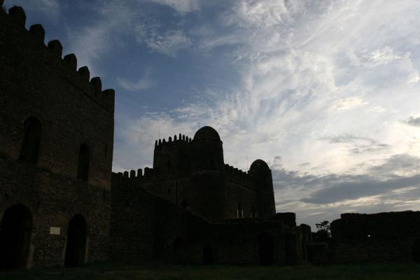Contours of castles in the Royal Enclosure | Fasil Ghebbi | Ethiopia