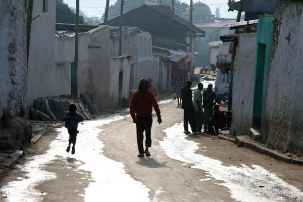 Picture of Harar Street Scenes (Ethiopia): Street of Harar in the afternoon