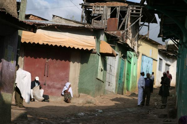 Typical street scene of Harar | Harar Street Scenes | Ethiopia