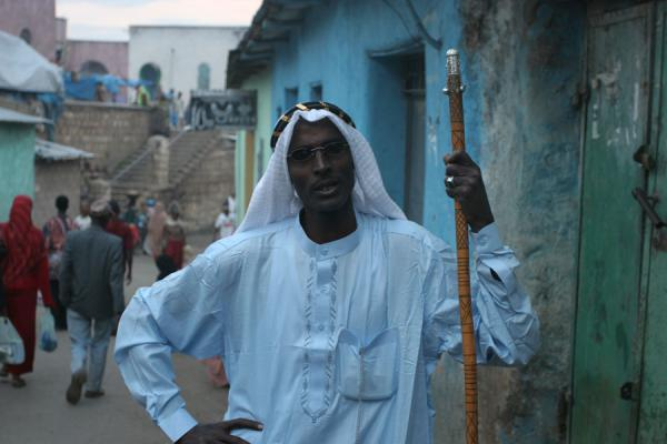 Picture of Harar Street Scenes (Ethiopia): Harari posing for the camera