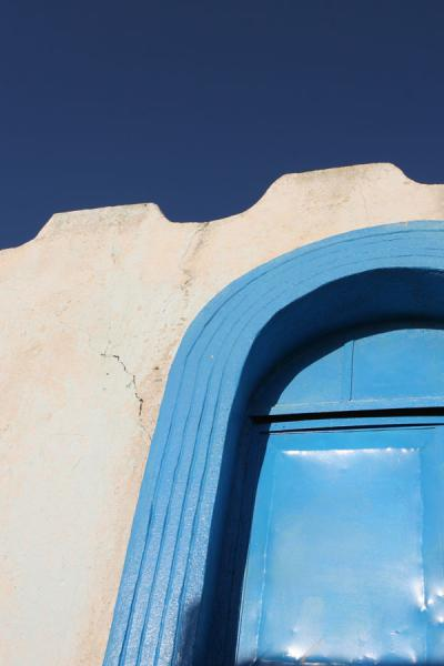 Picture of Symphony in blue: detail of house and door in Harar