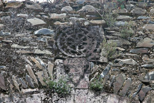 Carved cross in the wall of the palace of Kuskuam | Kuskuam | Ethiopia