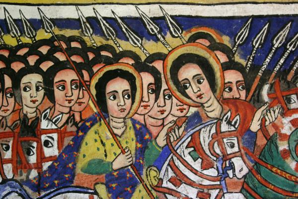 Close-up of paintings in Azuwa Maryam church | Lake Tana monasteries | Ethiopia
