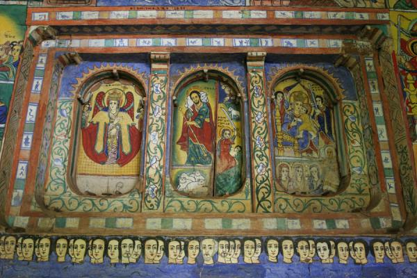 Picture of Lake Tana monasteries (Ethiopia): Colourful door of Azuwa Maryam church