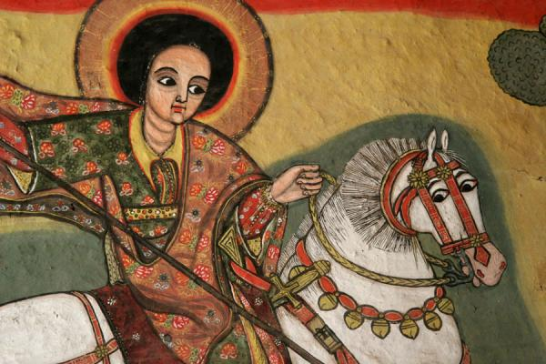 Detail of a mural in Kibran Gebriel church | Lake Tana monasteries | Ethiopia