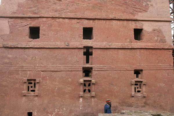 Picture of Lalibela Northern Cluster (Ethiopia): Symbolical windows in the eastern wall of Bet Maryam