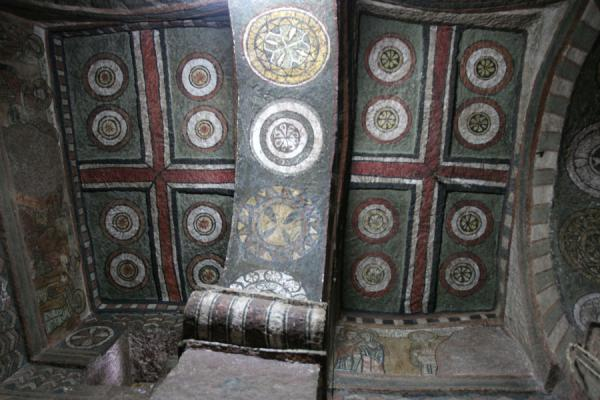 Picture of Lalibela Northern Cluster (Ethiopia): Bet Maryam: decorations embellishing the ceilingq