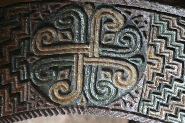 Picture of Close-up of decorations on arch in Bet Maryam