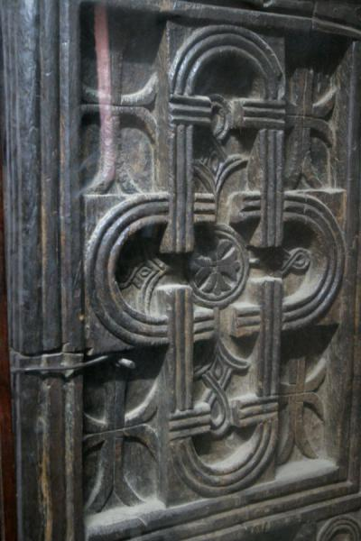 Picture of Lalibela Northern Cluster (Ethiopia): Elaborately carved cross in the wall of Bet Maryam