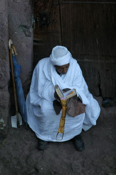 Praying in solitude at Sunday morning mass in Lalibela | Lalibela Sunday Mass | Ethiopia