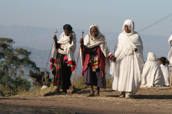 Old women at Sunday morning mass | Lalibela Sunday Mass | Ethiopia