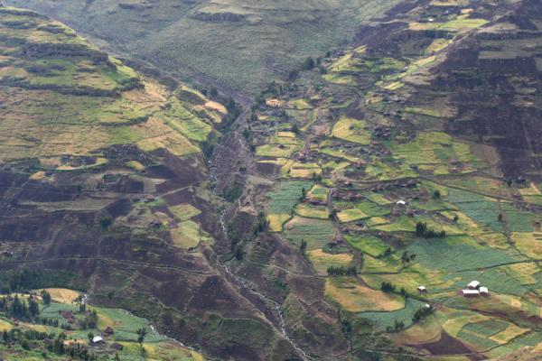 Argin village seen from the road to Sankabar | Simien Mountains | Ethiopia