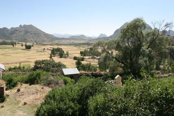 Picture of Tigraian landscape outside the ancient temple of Yeha