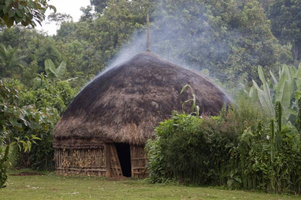 Photo de Smoking hut to chase away insectsYirgalem - l'Ethiopie