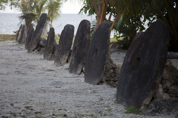 Picture of Micronesia (Row of stone money, or rai, leading to the sea at the stone money bank of Balabat)