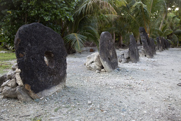 Picture of Balabat Stone Money Bank (Federated States of Micronesia): Stone money at the bank of Balabat