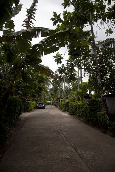 Picture of Street in Porakiet, the Polynesian part of KoloniaKolonia - Federated States of Micronesia