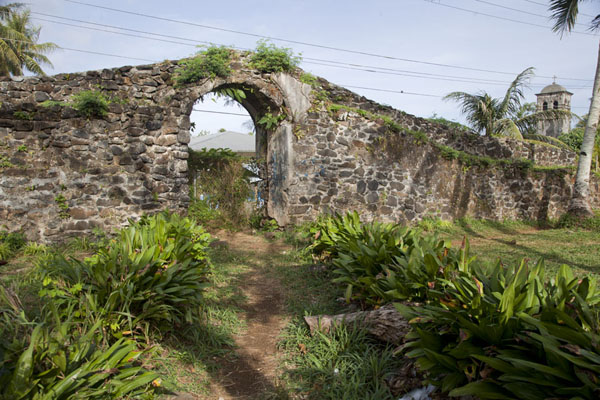 Picture of Part of the Spanish Wall, reminder of the Spanish era in MicronesiaKolonia - Federated States of Micronesia