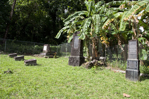 Foto van Tombs in the German cemetery in KoloniaKolonia - Federale Staten van Micronesia