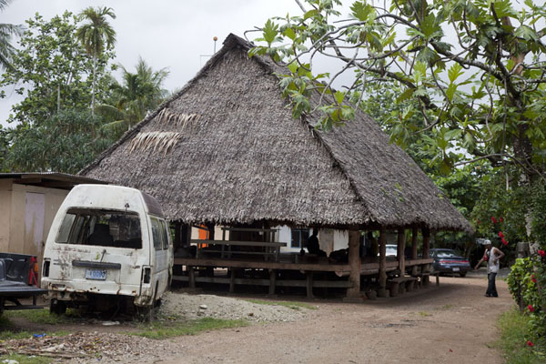 Large community house in Porakiet, the Polynesian section of Kolonia town | Kolonia Town | Federated States of Micronesia