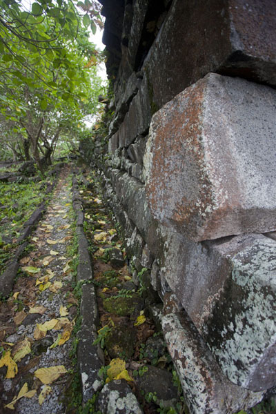Wall on the south side of Nan Douwas | Nan Madol | Federale Staten van Micronesia