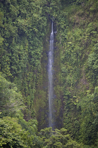 Sahwarlap falls seen from a distance | Pohnpei waterfalls | Federated States of Micronesia