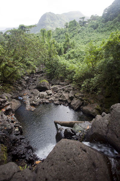 View over Liduhduhniap falls towards the interior of Pohnpei | Pohnpei waterfalls | Federated States of Micronesia