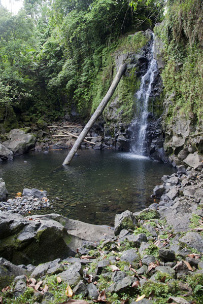 The Liduhduhniap falls end in a lovely pool | Pohnpei waterfalls | Federated States of Micronesia