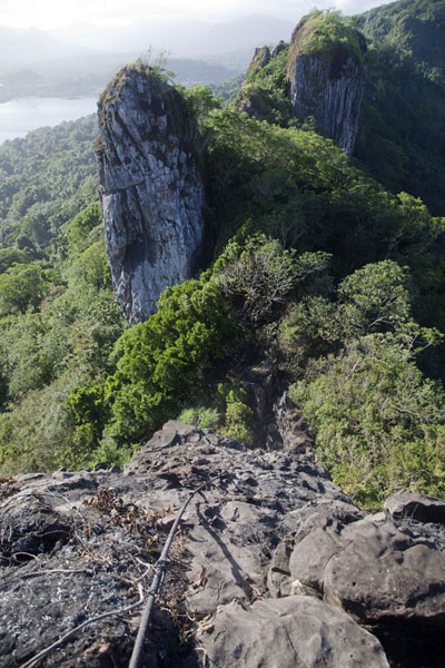 The Spire and Sokehs ridge seen from Sokehs rock | Sokehs rock | Federated States of Micronesia