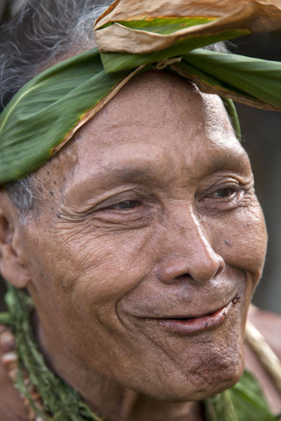Cheeky expression on the face of Chief | Tamil village | Federated States of Micronesia